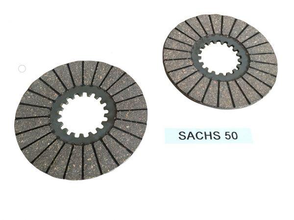 2 Kupplungslamellen Reibscheiben für Sachs 50 Motor
