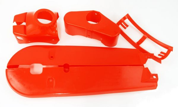 Kreidler Florett K54 Verkleidungen rot Kettenschutz Gabel Rahmen Verkleidungs SET RS GT LF LH